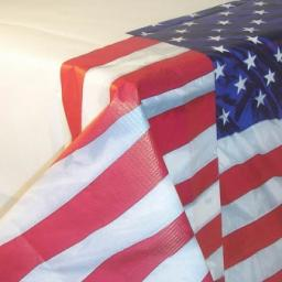 USA Flying Colours Paper Tablecover 54x102 inch