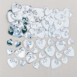 Loving Hearts Silver Embossed Metallic Confetti 14