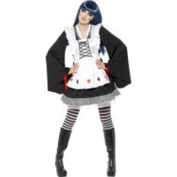 Fever Creepy Zombie Clown Dress Hat And Collar