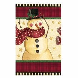 Cozy Snowman Plastic Table Cover - 1.37m x 2.59m