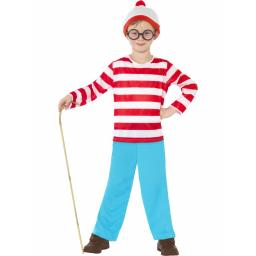 Wally Costume Top Trousers Glasses Hat