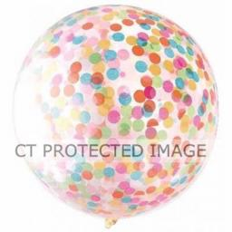36 inch Clear Confetti Balloon