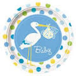 Baby Shower Paper Plates 8pcs 9 inch
