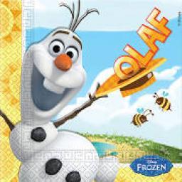 20 Olaf Summer Lunch Napkins 2ply 33x33cm