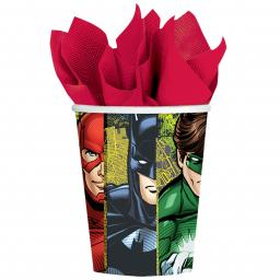 Justice League Paper Cups 266ml Hot/Cold 8pcs