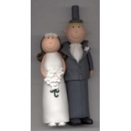 Claydough Bride & Groom