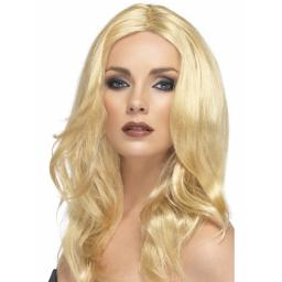 Superstar Long Blonde Wig Wavy with Skin Parting
