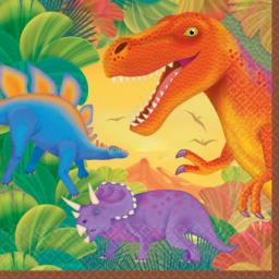 Prehistoric Party Luncheon Napkins 2ply 16pcs