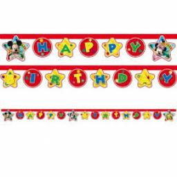 Mickey Mouse Happy Birthday Letter Banner 2.1m