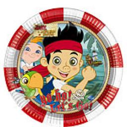 Jake Yo Ho Paper Party Plates 8pcs 23cm