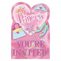 Princess Folded Invitation 8 set