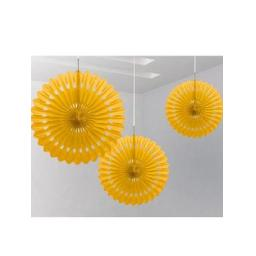 Decorative Fan 16 inch Yellow 1pc