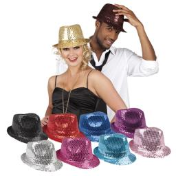 Popstar Hat Sequins 10 Assorted Colours