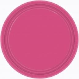 Party Paper Plates 22.9cm 8pcs Magenta