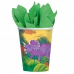 Prehistoric Paper Party Cups 8x9oz