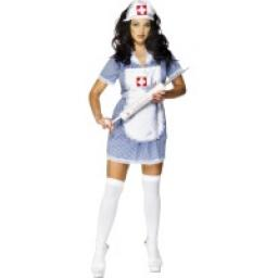 Naughty Nurse Dress Apron & Headpiece