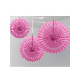Decorative Fan 16 inch Pink 1pc