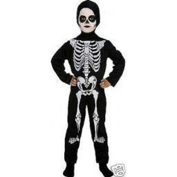 Skeleton Bodysuit With Hood Medium