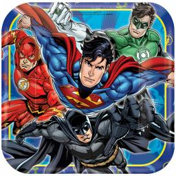 Justice League Paper Plates 23cm 8pcs