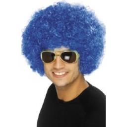 Funky Afro / Crazy Clown Wig Blue