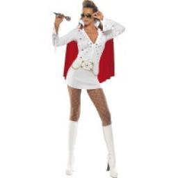 Elvis Viva Las vegas Costume White With Dress Ca