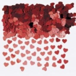 Sparkle Hearts Red Metallic Confetti 14g
