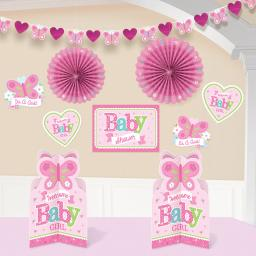 Welcome Baby Girl Baby Shower Room Decoration Kit