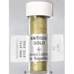 Sugarflair Edable Lustre Antique Gold 2g