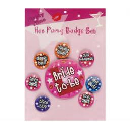 Hen Night Badge Set 8