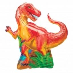 Dinosaur Party SuperShape Foil Balloon 29x31inch