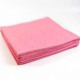 25 Light Pink Paper Tablecovers 90cm x 90 cm