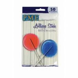 PME Lollipop Sticks 11.5 cm/50sticks