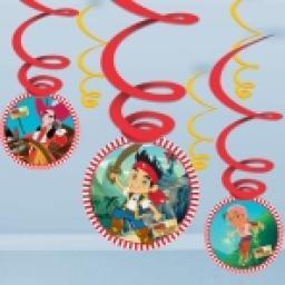 Jake & the Neverland Pirates Swirl Decorations 6pc