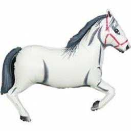 White Horse Jumbo Foil Balloon 43 inch