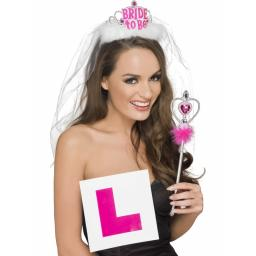 Hen Night Kit (Tiara Veil L Plate Badge & Wand)
