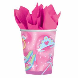 Princess Paper Cups 266ml Hot/Cold 8pcs
