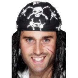 Pirate Bandanna Skull and Crossbones Design