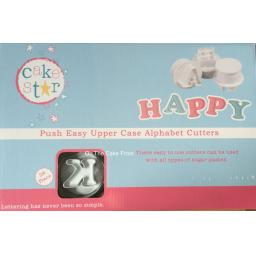 Cake Star Push Easy Uppercase Alphabet Cutters 26pc