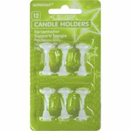12 White Candle Holders
