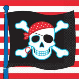 Pirate Party Luncheon Napkins 2ply 16pcs 32.7cm x 32.7cm