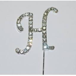 Diamante Letter H Cake Topper Decoration