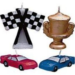 PME 4 Racing Car Candles