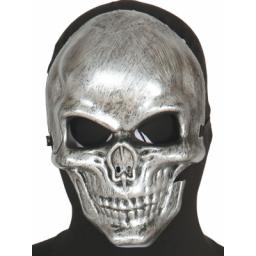 Metallic Silver Skull Mask