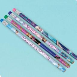 Frozen Pencils with Erasers - 4 mixed designs 12pc