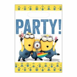 Minions Plastic Party Bags 8 pcs