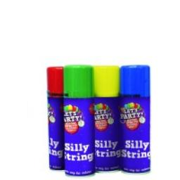 1 Can of Silly String Asstd Colours Non-flammable