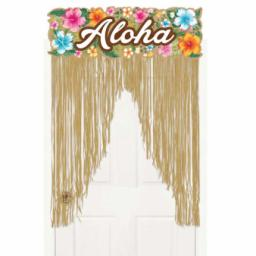 Beachy Blooms Hawaiian Door Curtain 39 x 54