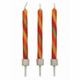PME 10 candy stripe twist candles