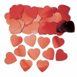 Red Jumbo Hearts Confetti - 14g