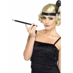Black Sequinned Cigarette Holder